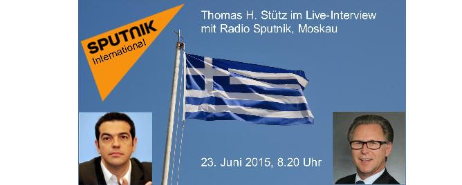 Live-Interview mit Radio Sputnik, Moskau