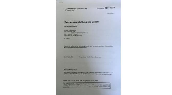 Vorstoß der SPD / Bündnis 90/Die Grünen: Wahlrecht für nicht EU-Ausländer/Innen